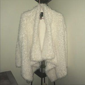 Fur cardigan